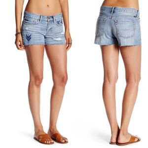 Lucky Brand Cut Off Embroidered Short Womens 8
